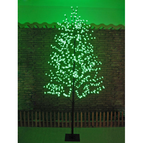 PRODUCT DETAIL Green Lights Blossom Cherry Outdoor Lighted Tree